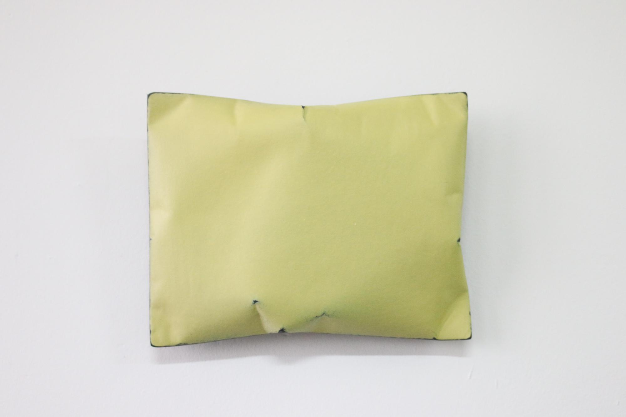 Johan De Wit, Untitled, 2018, Paper, Resin, Marble, Acrylic, 23 x 18 x 5.5 cm