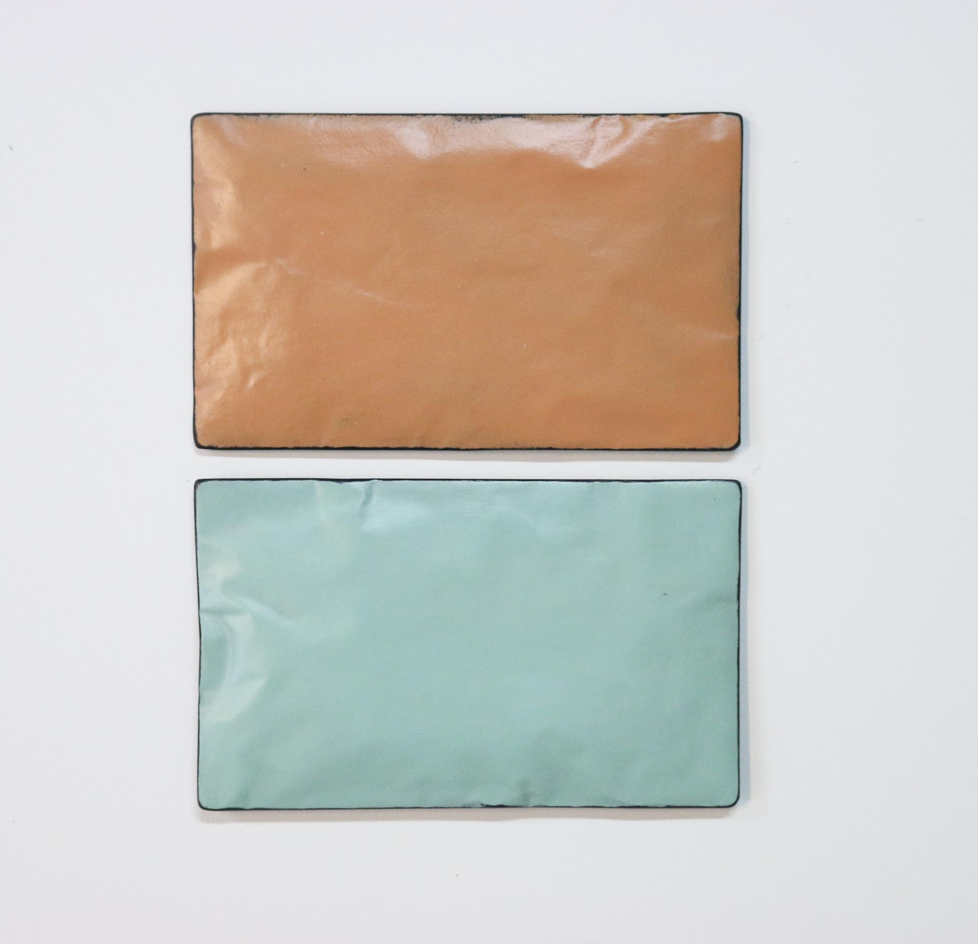 Johan De Wit, Untitled, 2018, Paper, Resin, Marble, Acrylic, 24.5 x 31 cm(2 pces), Affinity Art