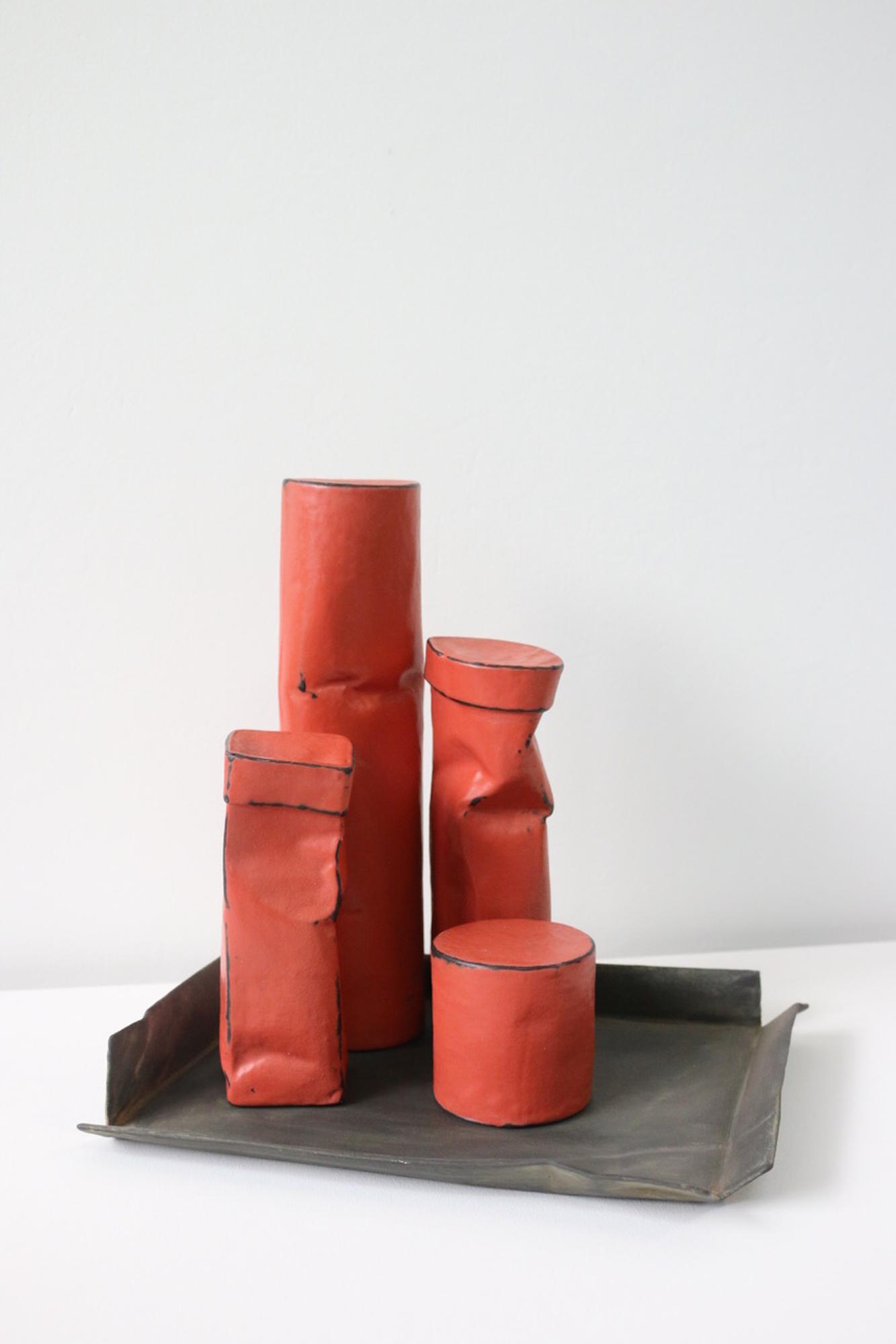 Johan De Wit, Untitled, 2018, Paper, Resin, Marble, Acrylic, 27 x 27 x 21 cm, Affinity Art