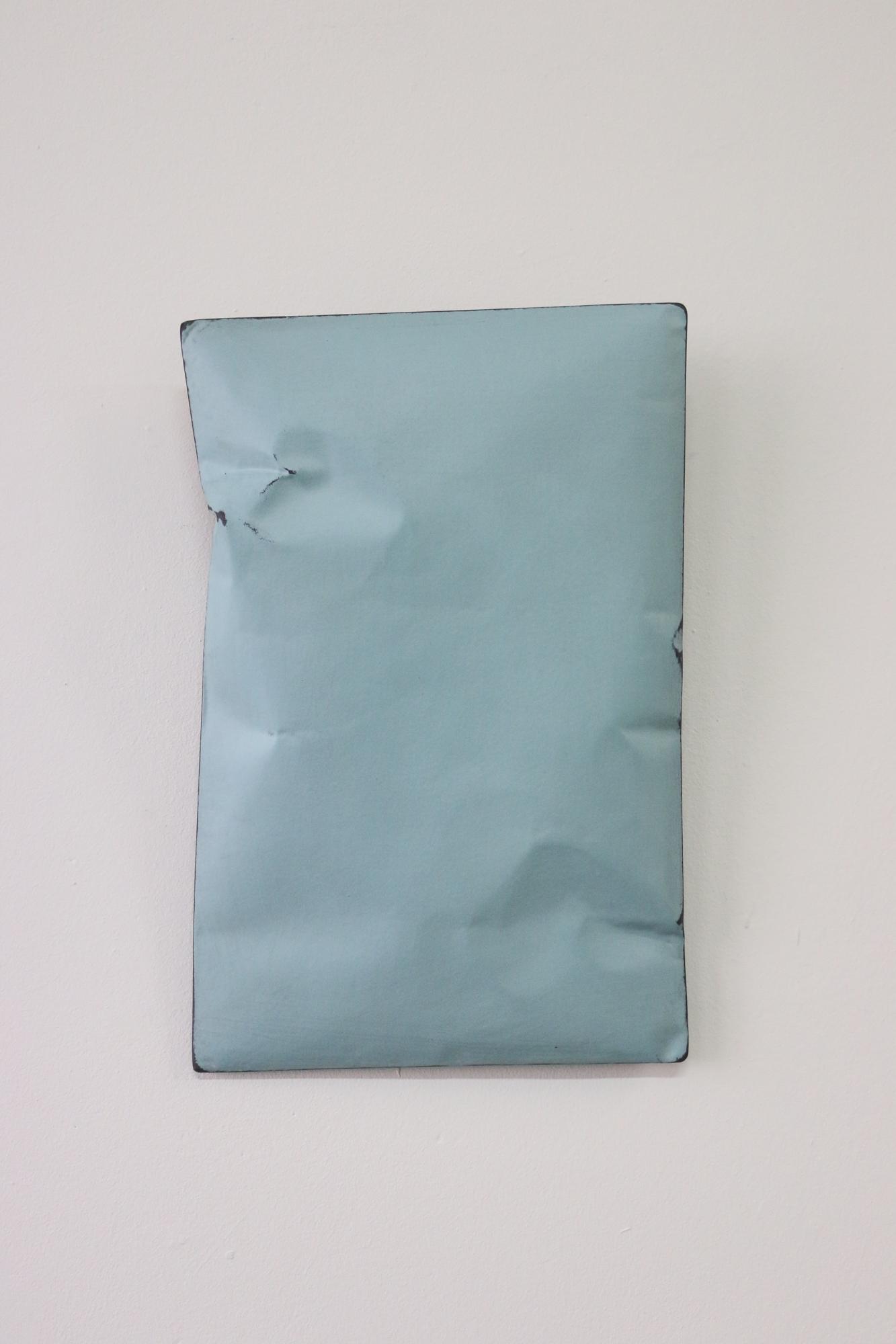 Johan De Wit, Untitled, 2018, Paper, Resin, Marble, Acrylic, 28 x 18.5 x 5 cm