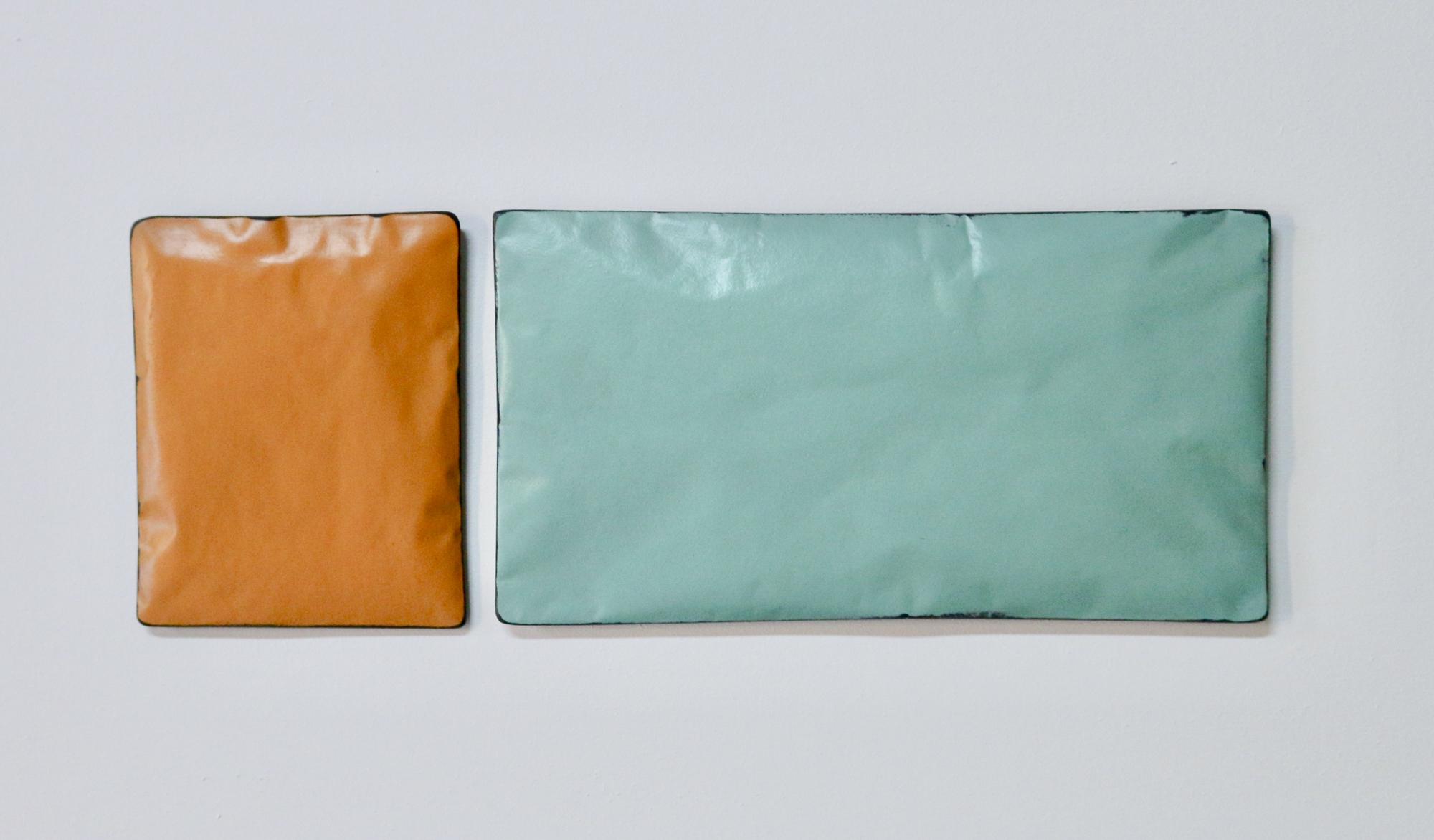 Johan De Wit, Untitled, 2018, Paper, Resin, Marble, Acrylic, 41x15cm(2 pces), Affinity Art