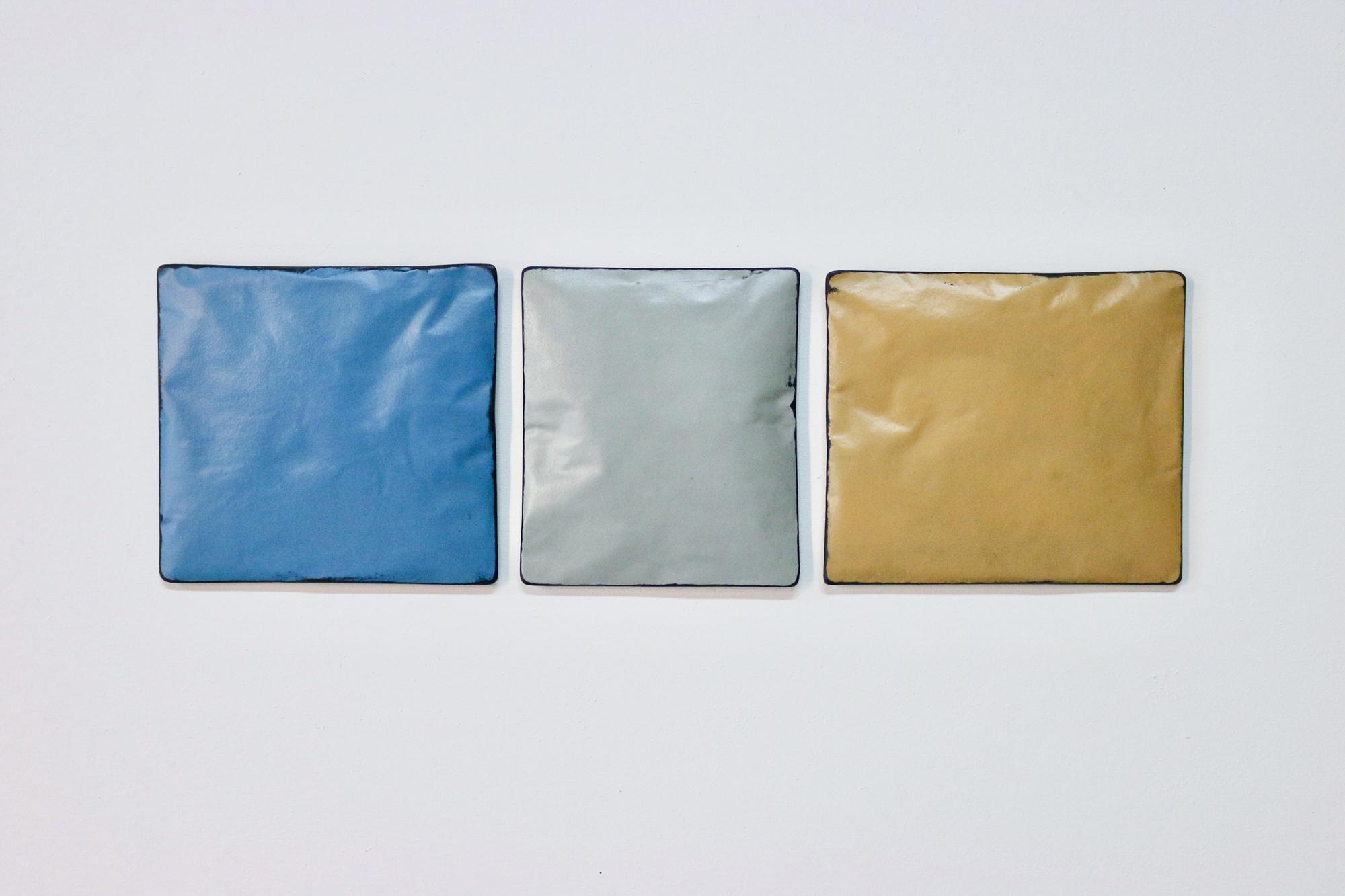Johan De Wit, Untitled, 2018, Paper, Resin, Marble, Acrylic, 49 x 15 cm (3 pces), Affinity Art