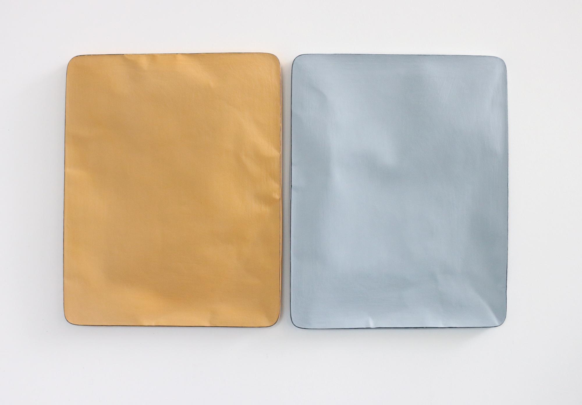 Johan De Wit, Untitled, 2018, Paper, Resin, Marble, Acrylic, 76 x 46.5 x 2 cm, Affinity Art