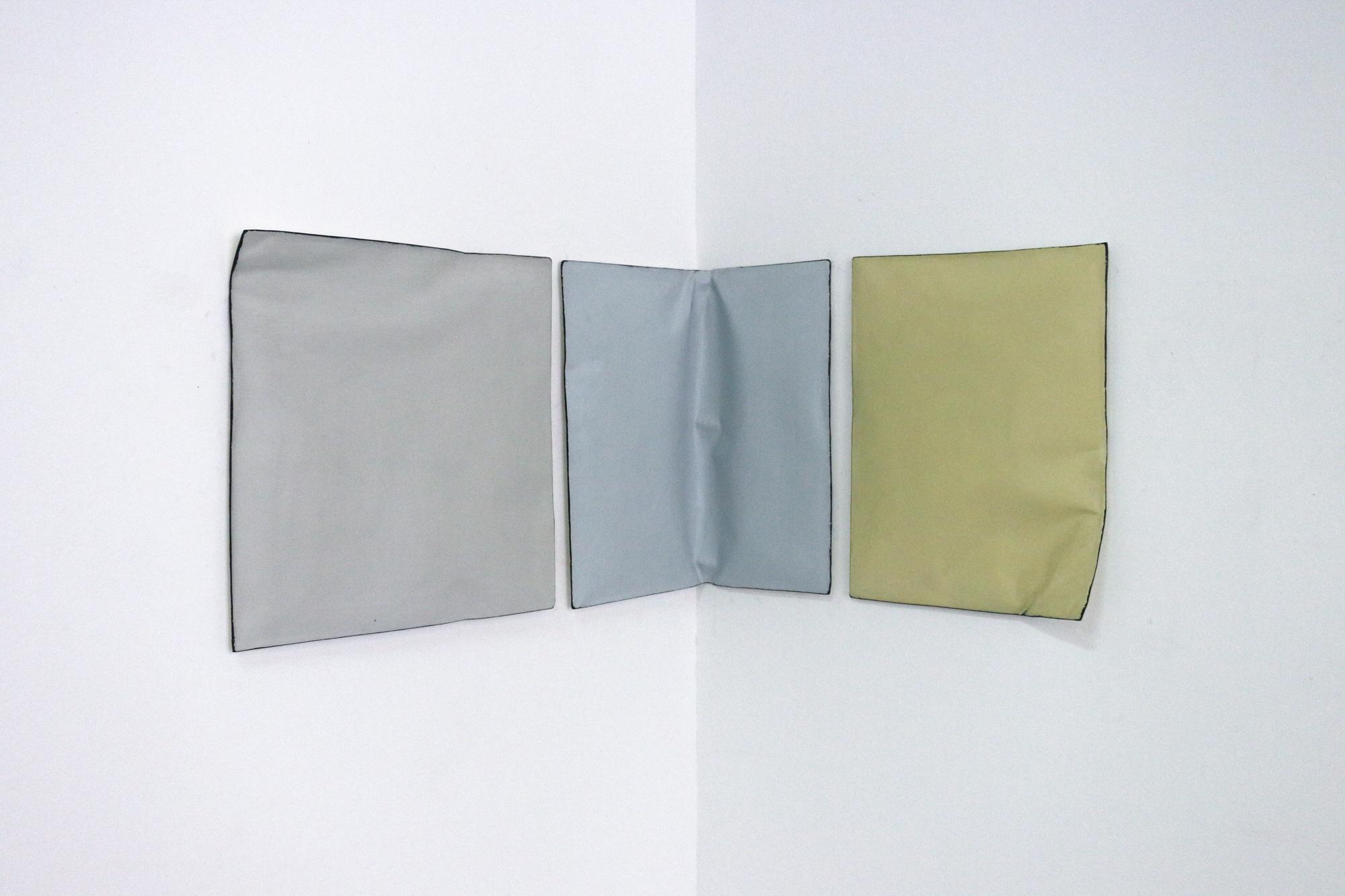 Johan De Wit, Untitled, 2018, Paper, Resin, Marble, Acrylic, 128 x 42 x 5 cm, Affinity Art