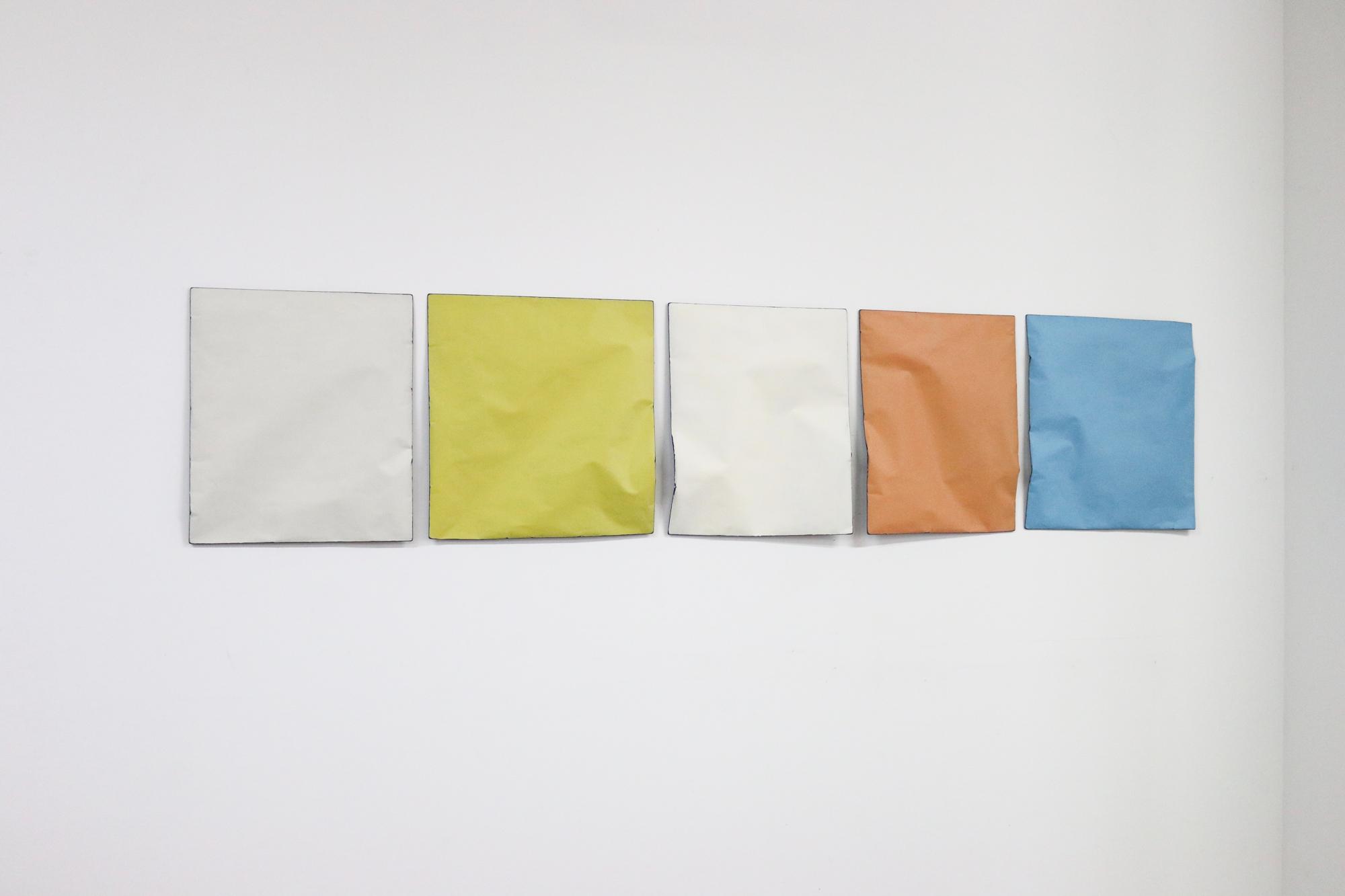 Johan De Wit, Untitled, 2018, Paper, Resin, Marble, Acrylic, 216 x 46.5 cm, Affinity Art