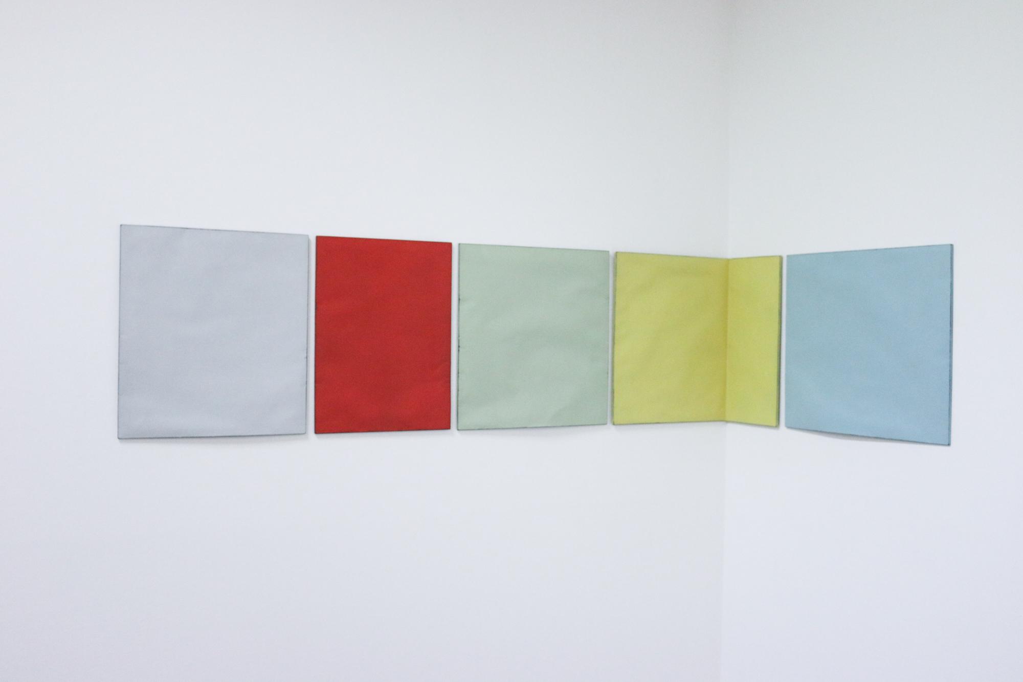 Johan De Wit, Untitled, 2018, Paper, Resin, Marble, Acrylic, 241.5 x 45 cm, Affinity Art