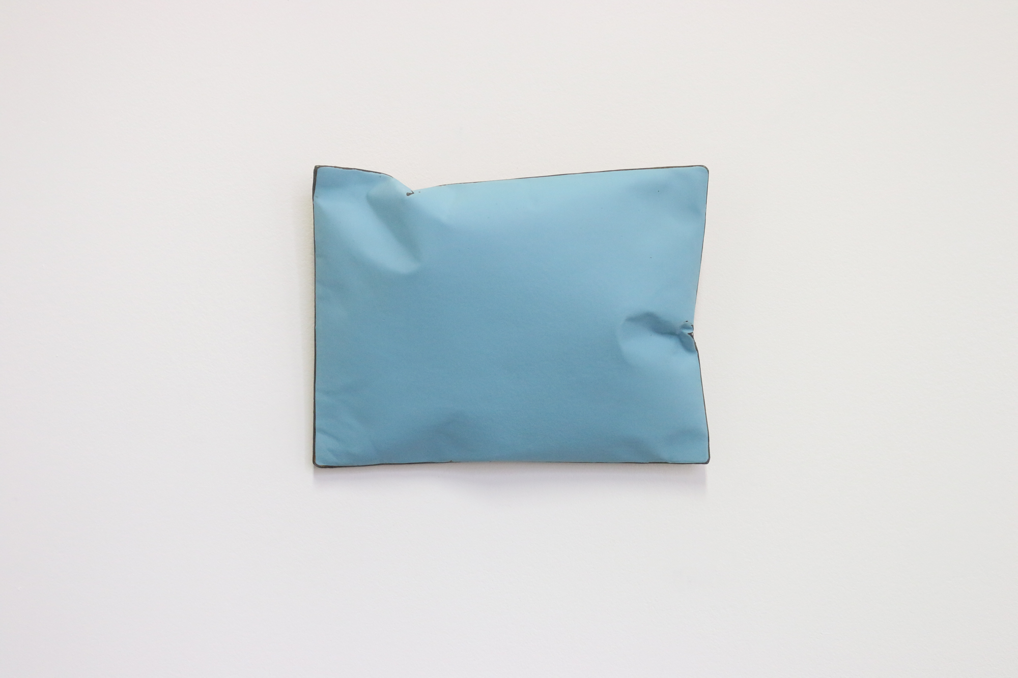 Johan De Wit, Untitled, 2019, Acrylic, Marble, Resin on Paper, 26x20x6 cm - blue, Affinity Art.jpg