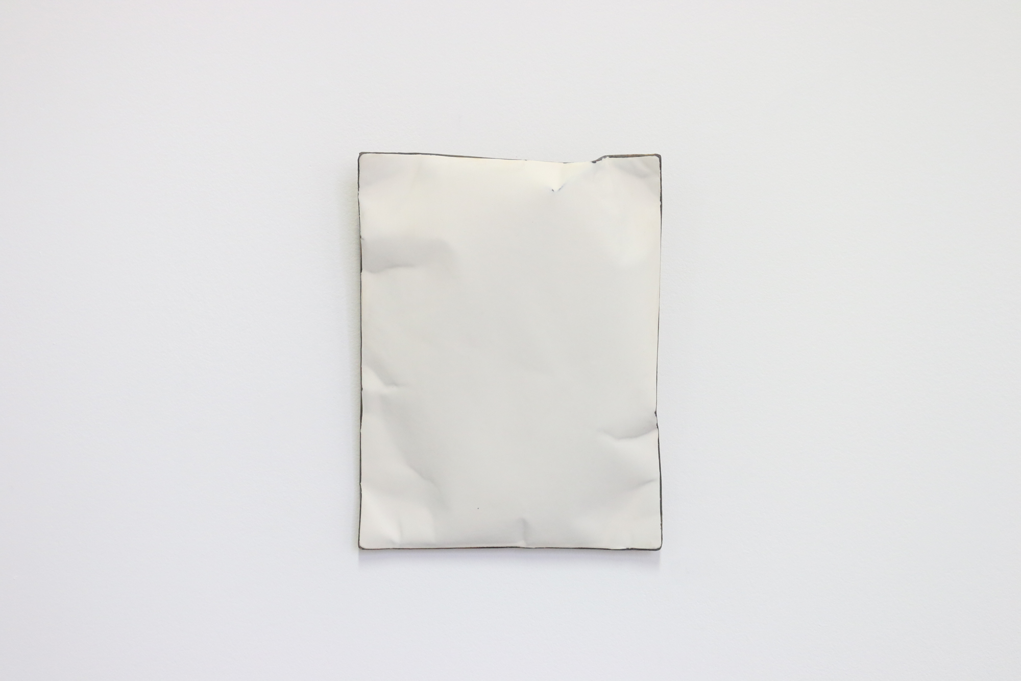 Johan De Wit, Untitled, 2019, Acrylic, Marble, Resin on Paper, 26x20x6 cm - white, Affinity Art.jpg