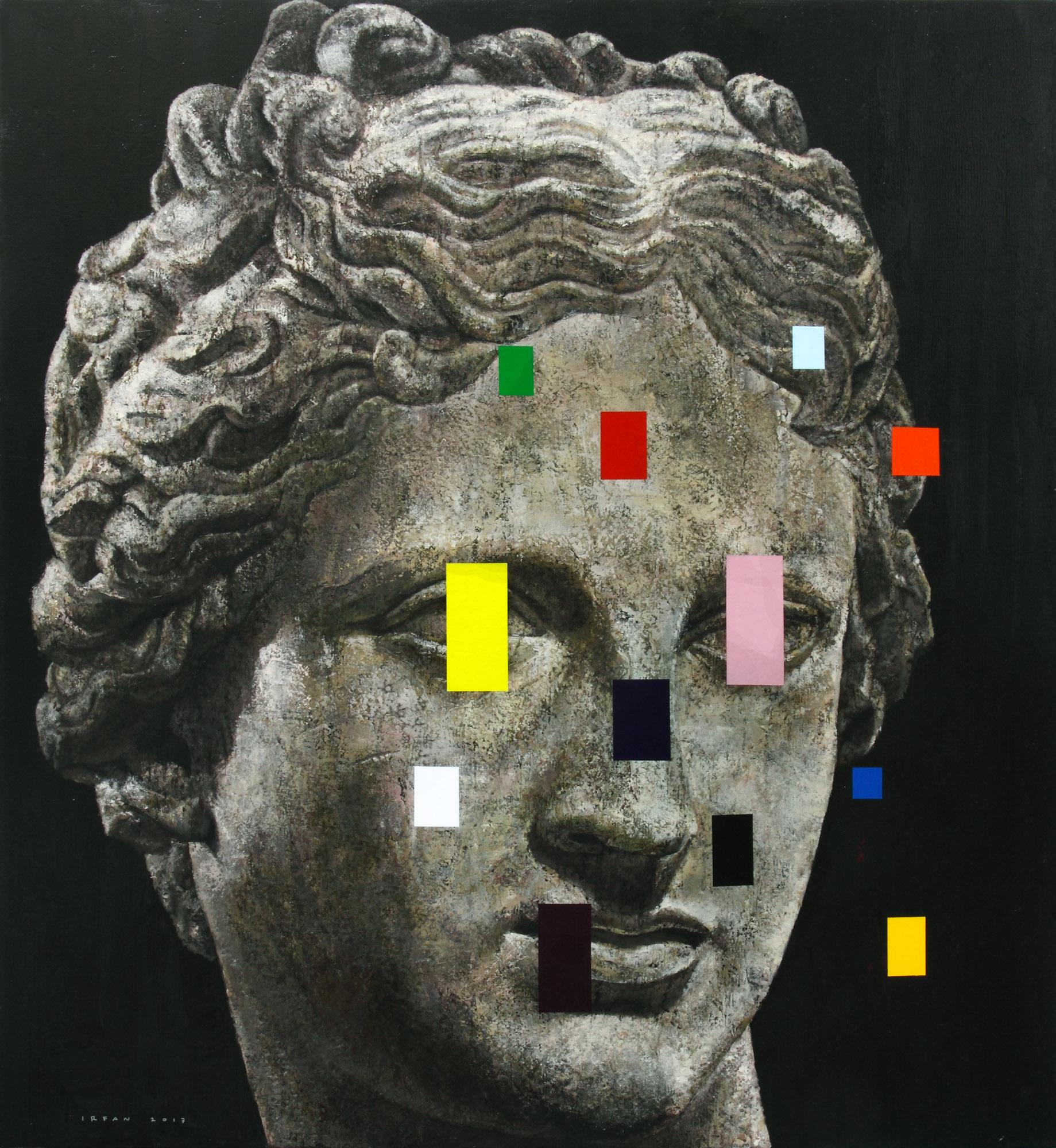 M Irfan, #19 Venus, 2017, Acrylic on Canvas, 120 x 110 cm, Affinity Art.jpg