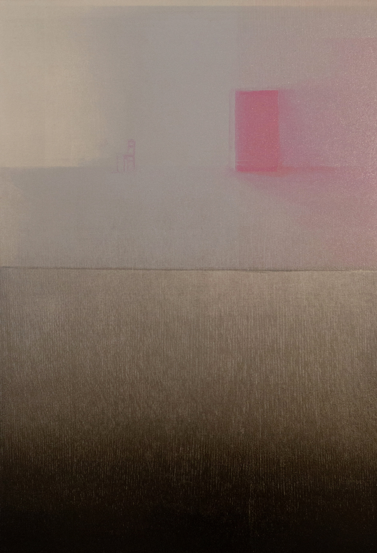 PIANGCHOOMPU Praween, Equilibrium #1b, 2019, Woodcut Print on Paper, 42 x 30 cm