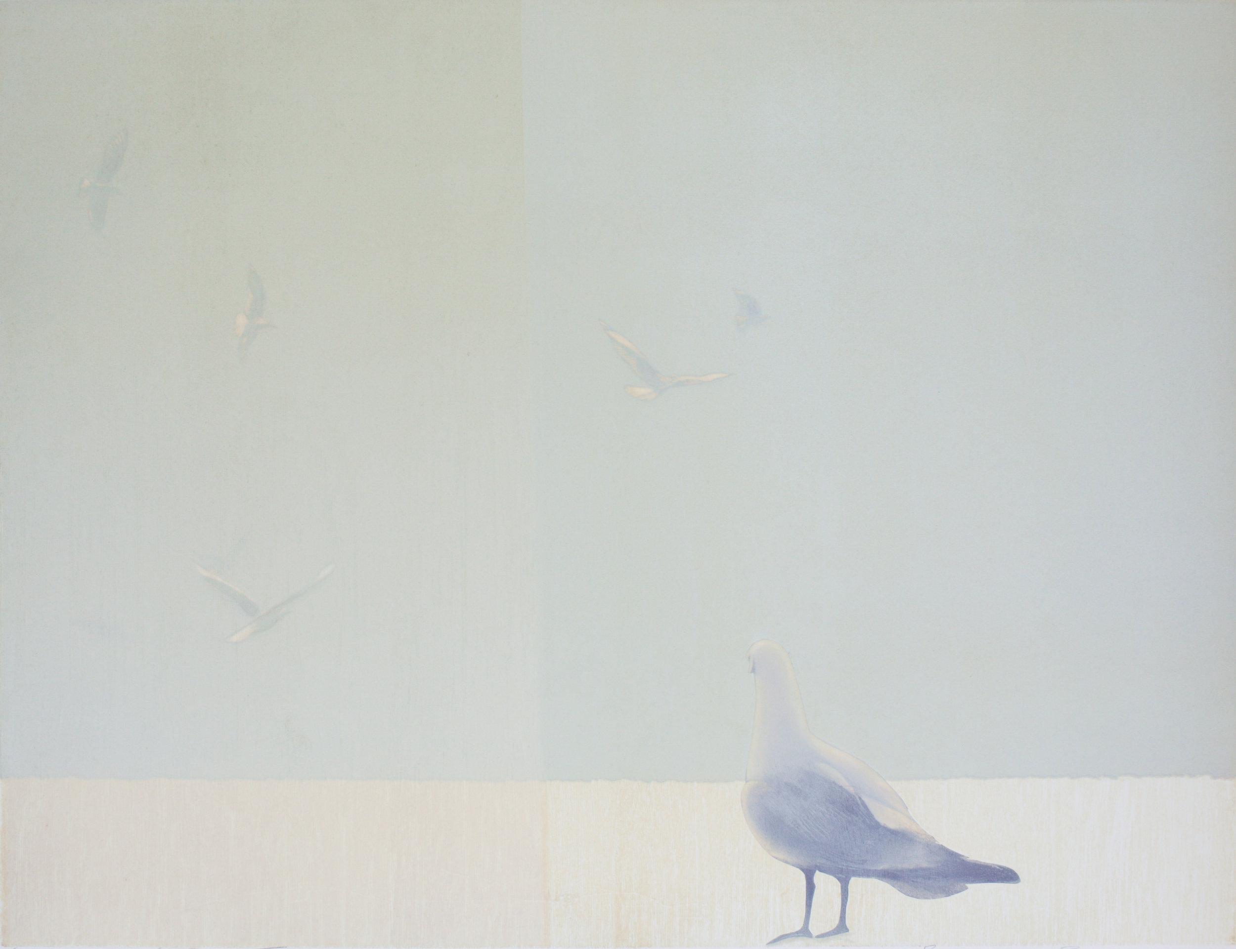 Praween Piangchoompu, Middle of Nowhere #2, 2018, Woodcut on Paper, 5 of 5, 85.8 x 61 cm, Affinity Art.jpg