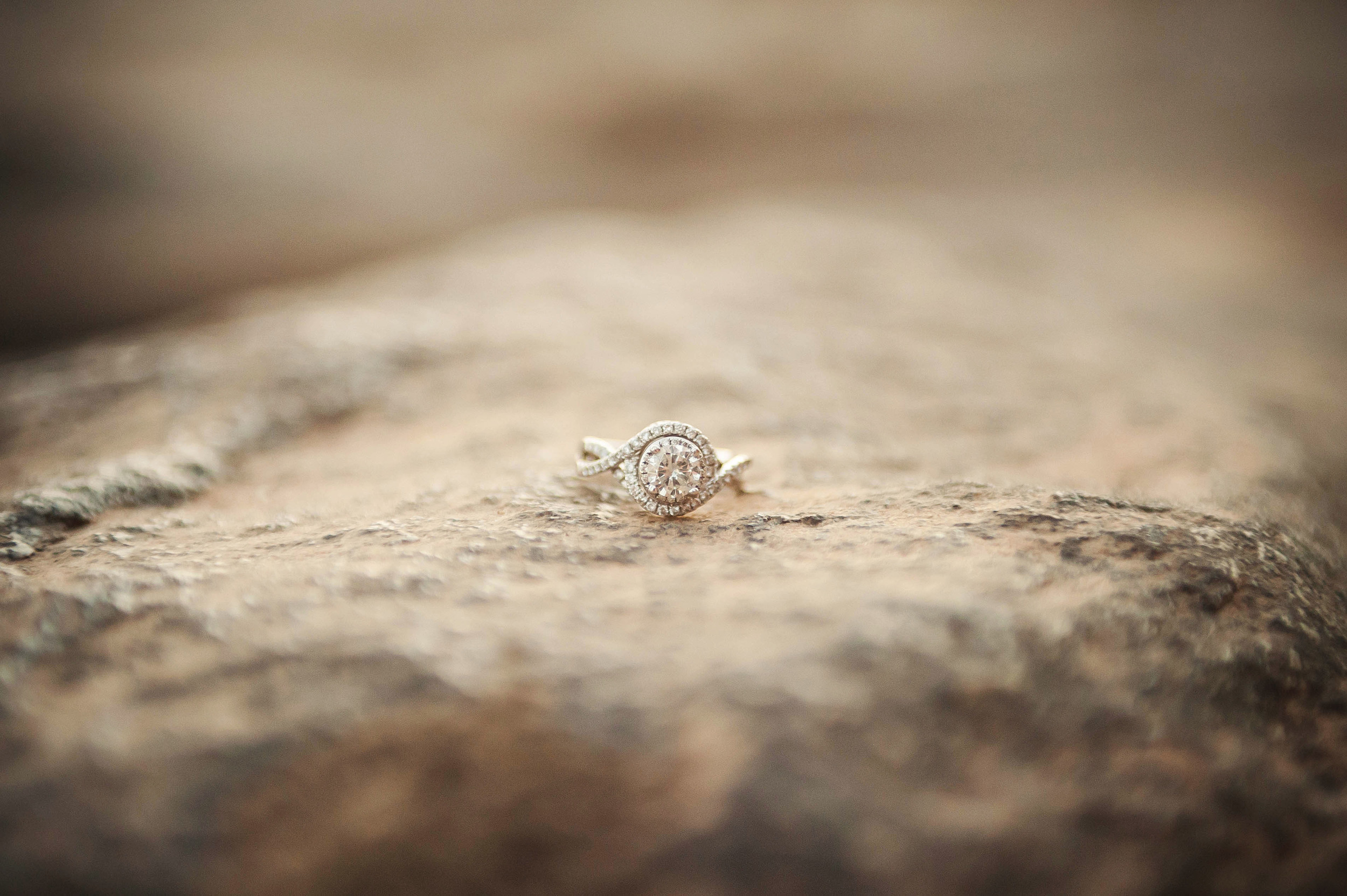 ring on the rocks. yes i laid down and got dirt all over me for this one. worth it!
