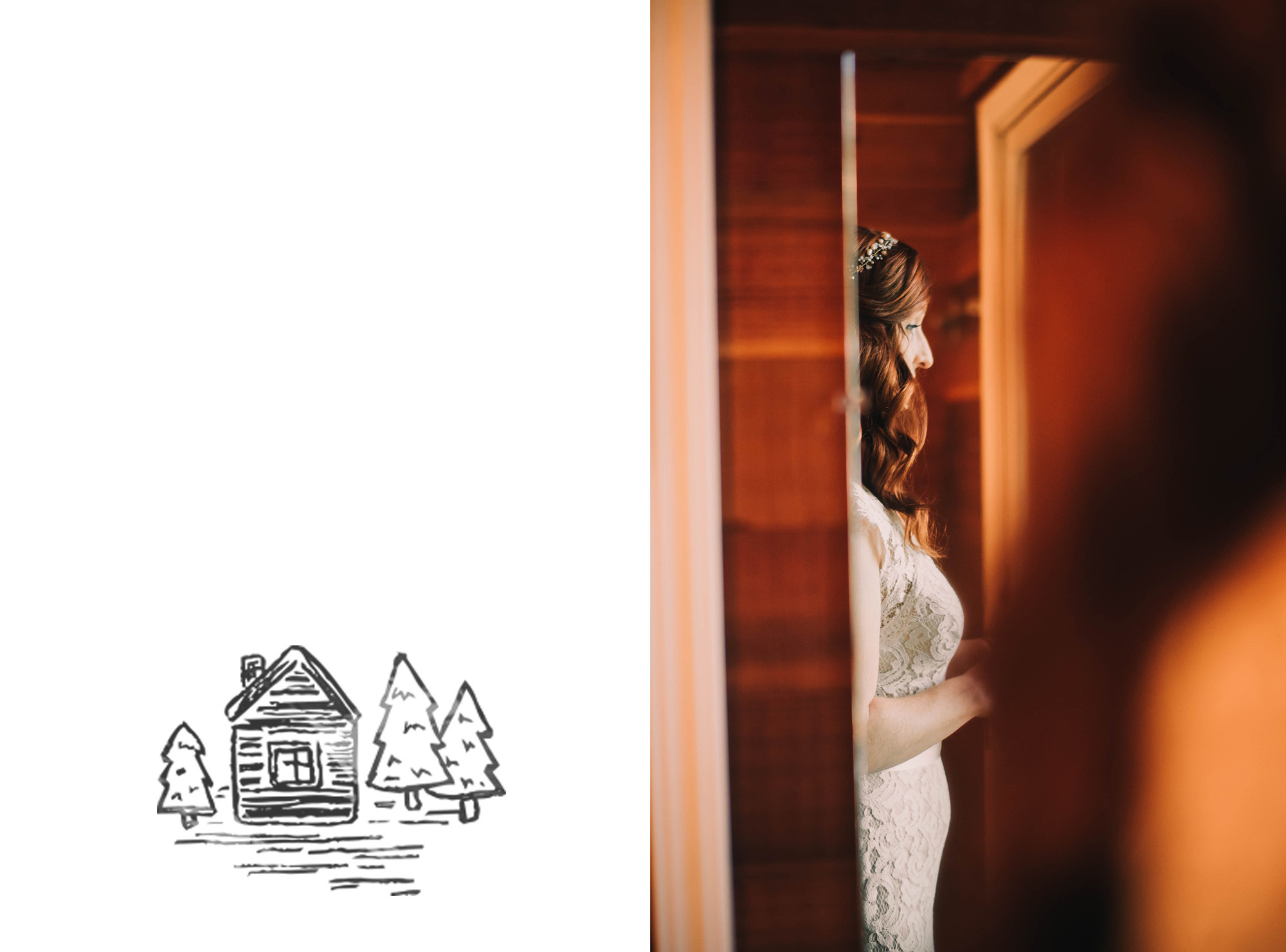washington state elopement photographer a frame cabin bride.jpg