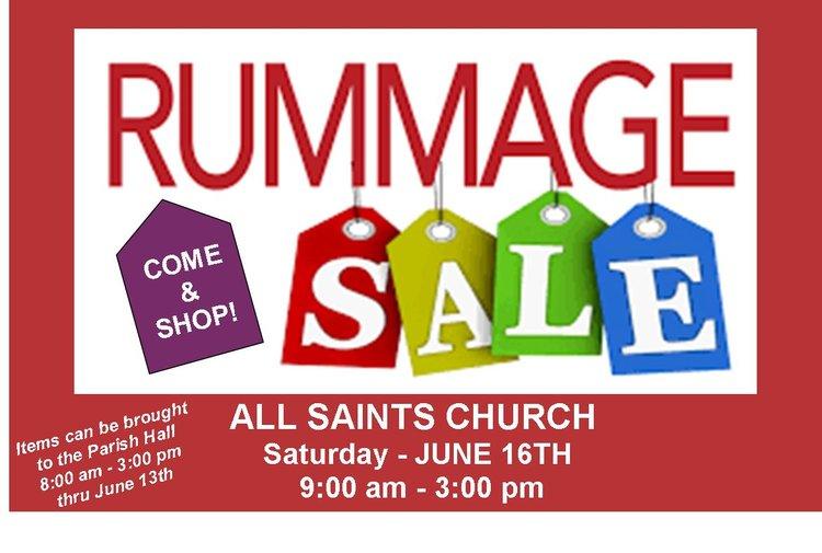 RUMMAGE SALE — All Saints Catholic Church