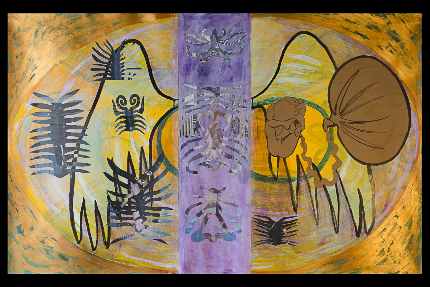 "Future  Part 3 of Triptych - each 61"" x 38"""