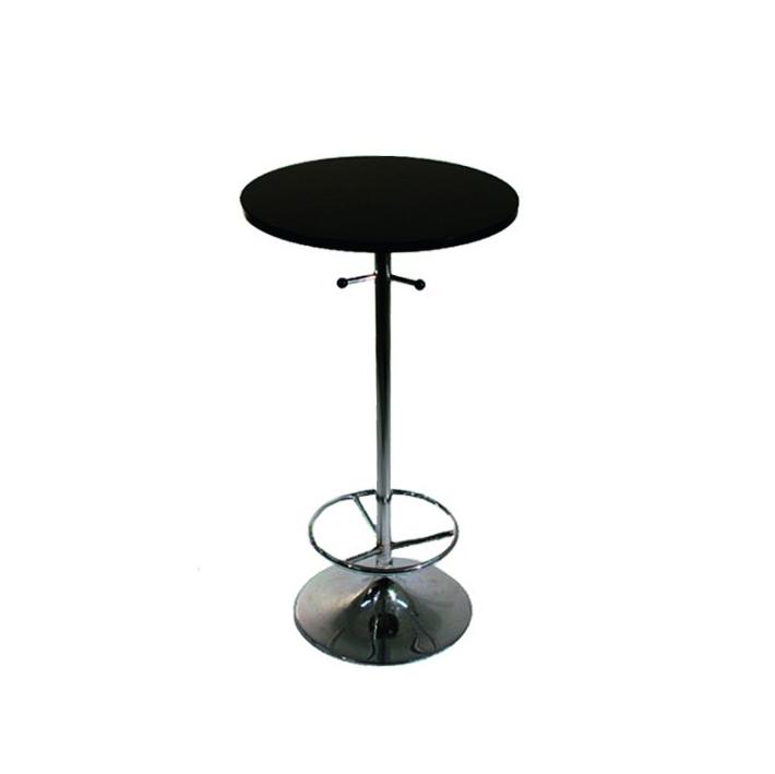 Ståbord, runt, svart Längd: 60 cm Bredd: 60 cm Höjd: 110 cm Pris: 450 kr
