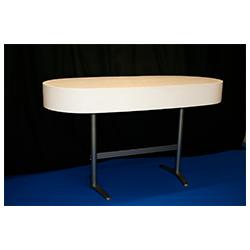Ovalt Ståbord med sarg B180cm, B60cm, H110cm 1200:-