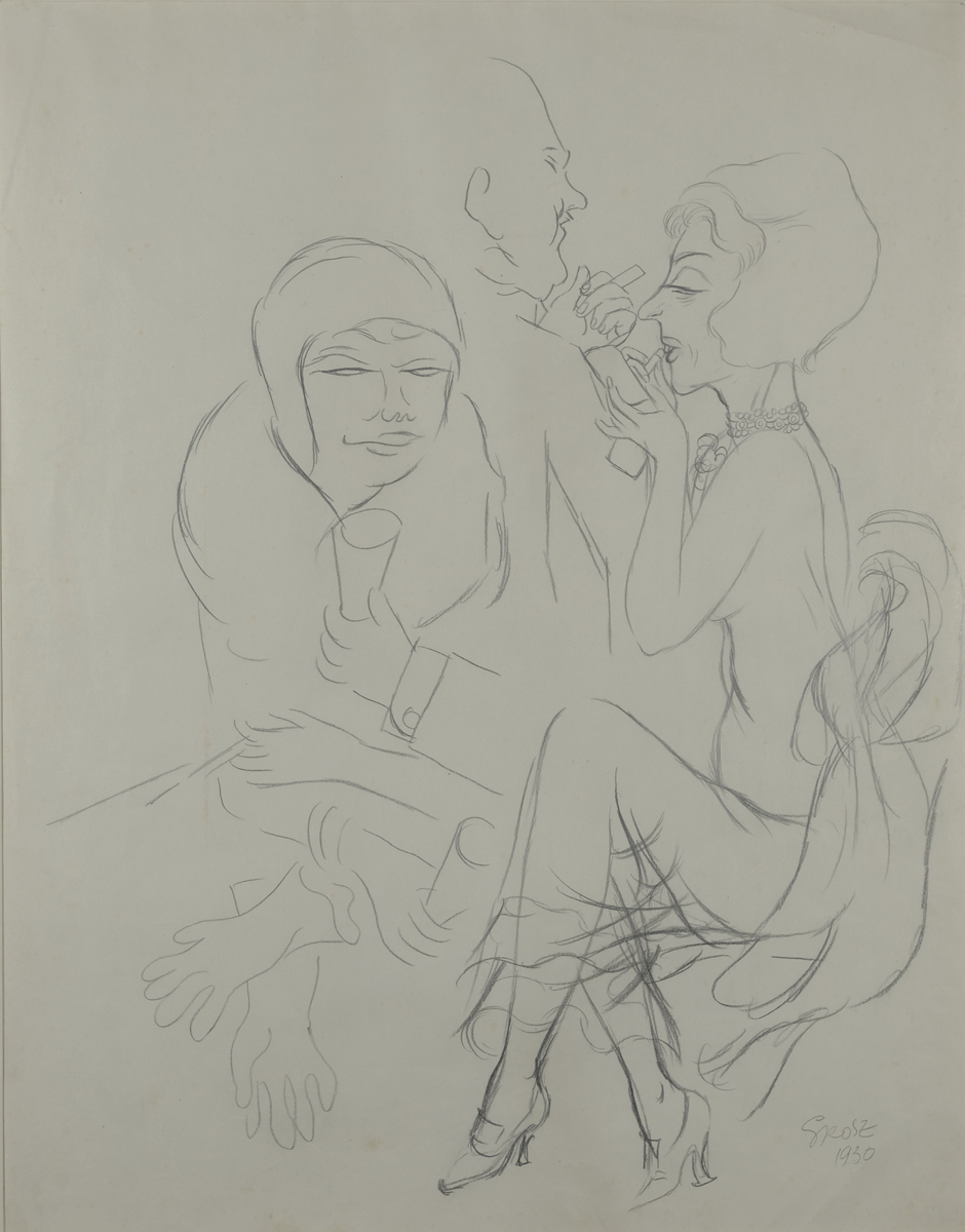 George Grosz Make up - 1930 GALLERIA DE'FOSCHERARI.jpg