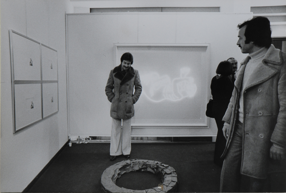 galleria de' foscherari mostra eros ghenos thanat Fabro - Pozzati.JPG