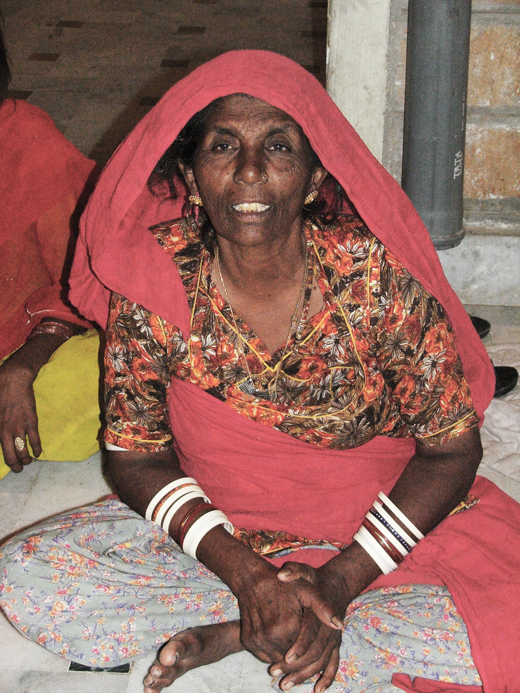 Sakarji's wife, Bubba Devi, at home