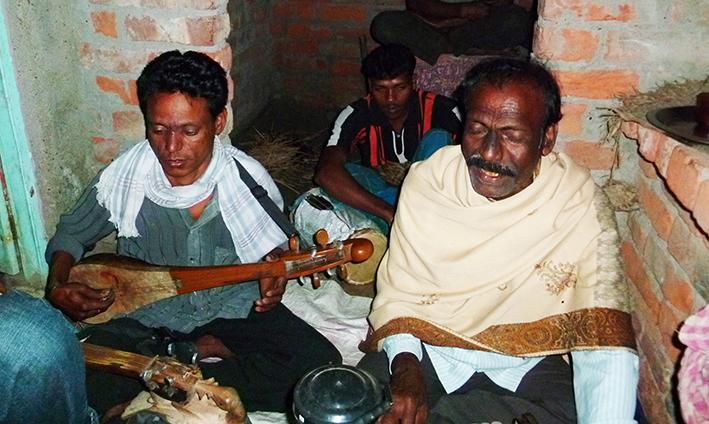 Bhatiali singers of Kalitala village near Hingalganj, Southern Bengal, 2011 © Edith Nicol