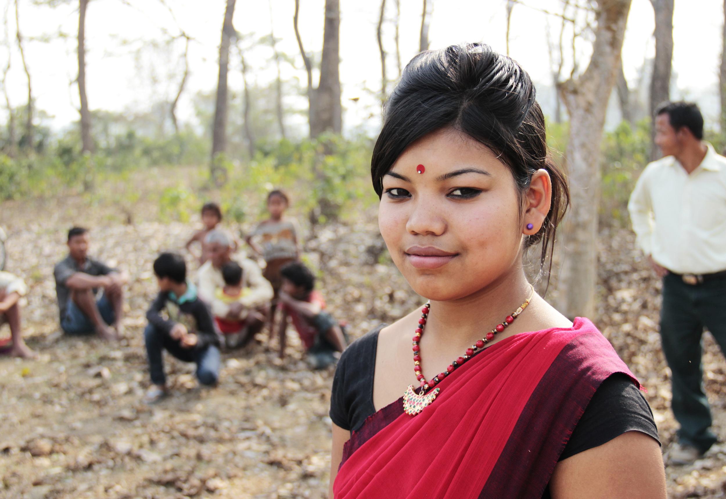 A young dancer of the Mishing community, Majuli Island, January 2014 © Edith Nicol