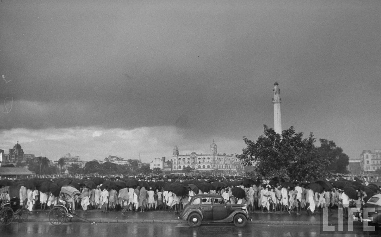 Monsoon time in Kolkata, 1951. Photographed for LIFE Magazine.