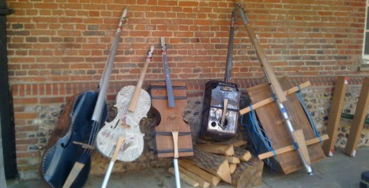 "A sample of some of the instruments made from ""nothing"""