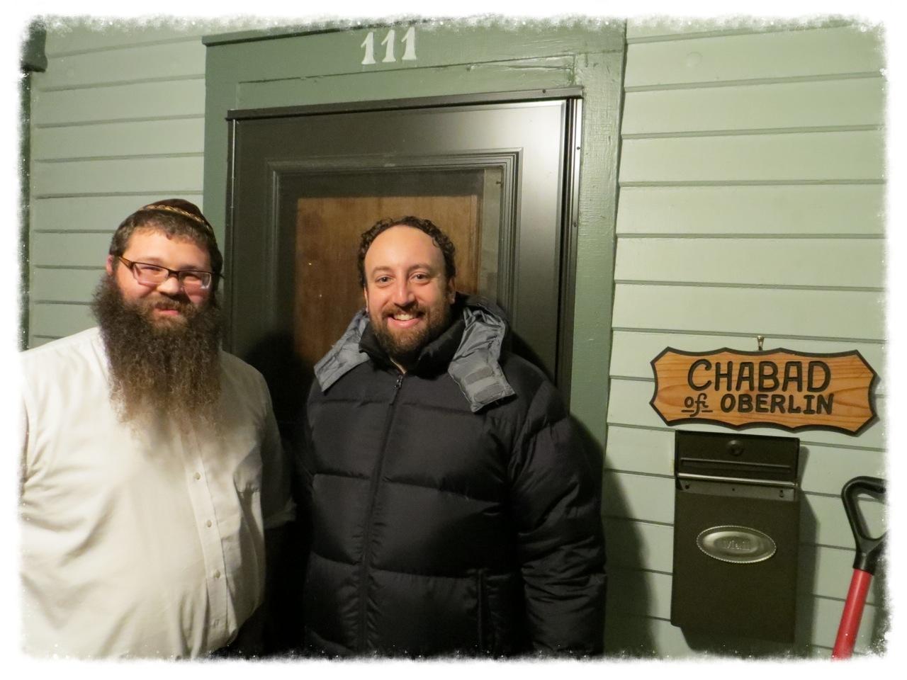 Joshua Safran(OC'97) and Rabbi Shlomo at Chabad House