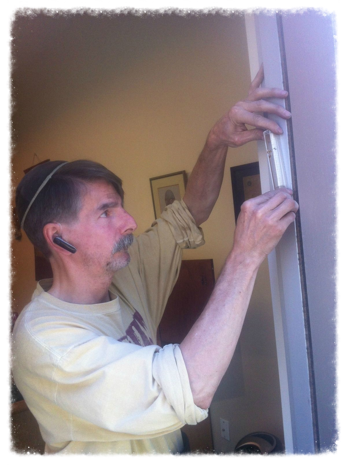 Hanging a Mezuzah on a Local Business