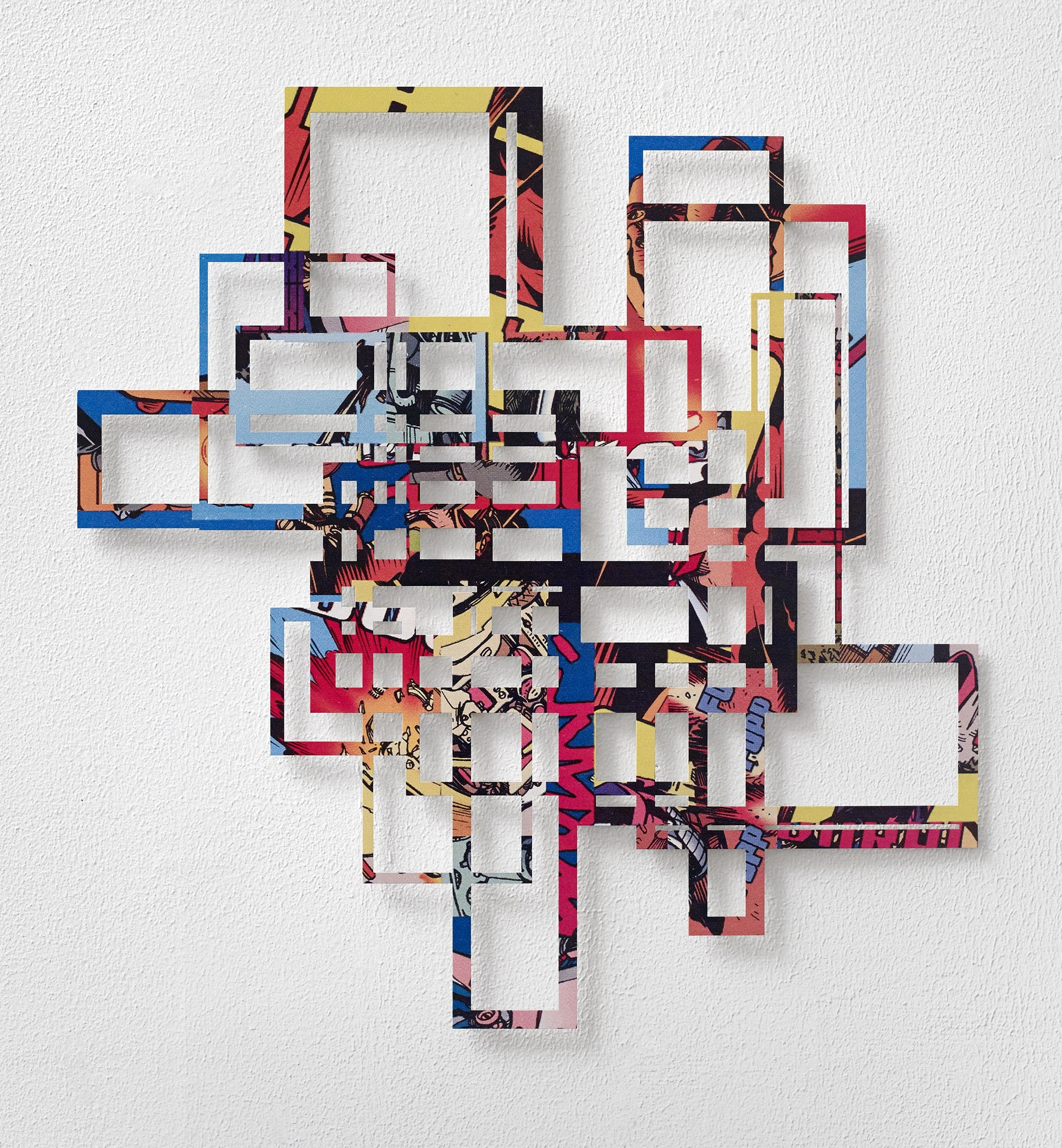Curtis Gannon  Association Relief #2 (Space City) ink on stainless steel 23 x 22 inches