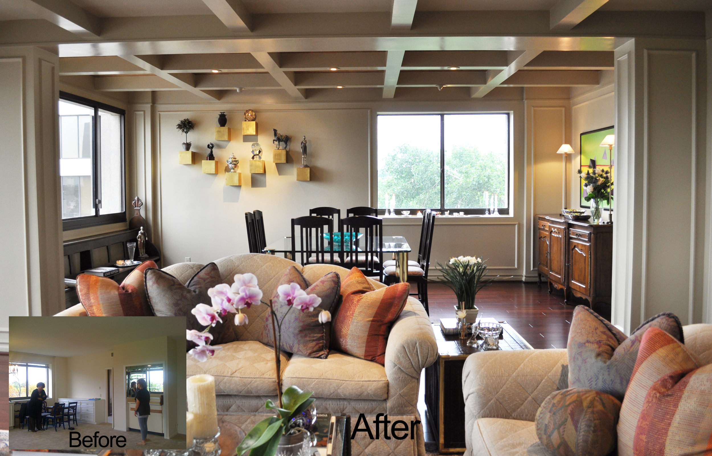 Jamie House Design Living Room Remodel Before and After