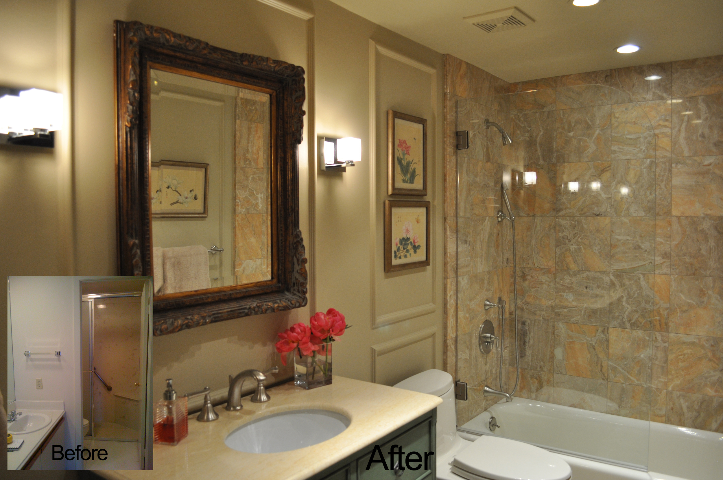 Jamie House Design Bathroom Remodel Before and After