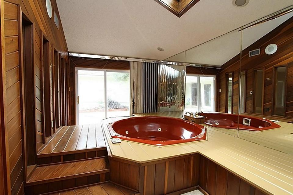 BEFORE. Crazy jacuzzi tub.