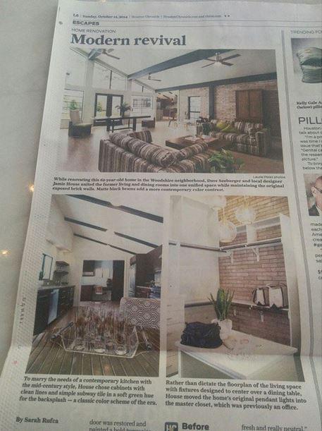 Jamie House Design in the Houston Chronicle.