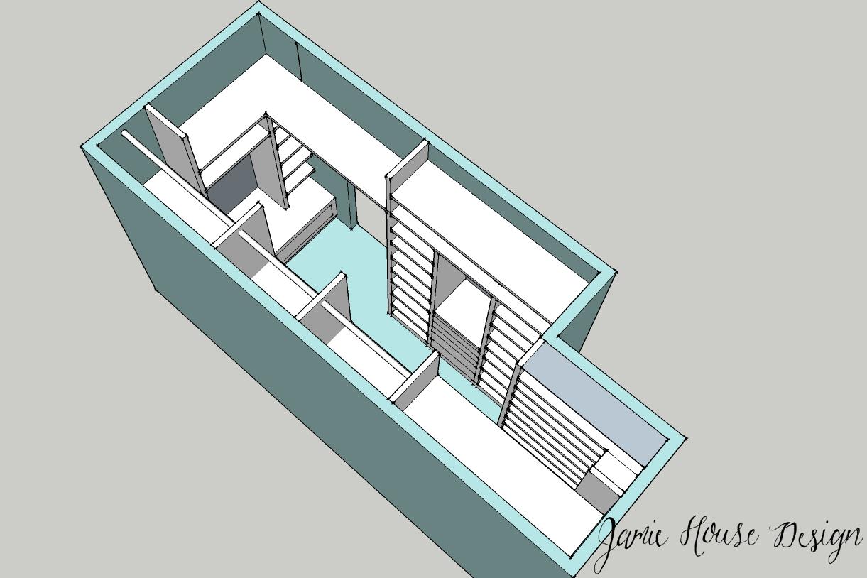 Closet rendering- Jamie House Design