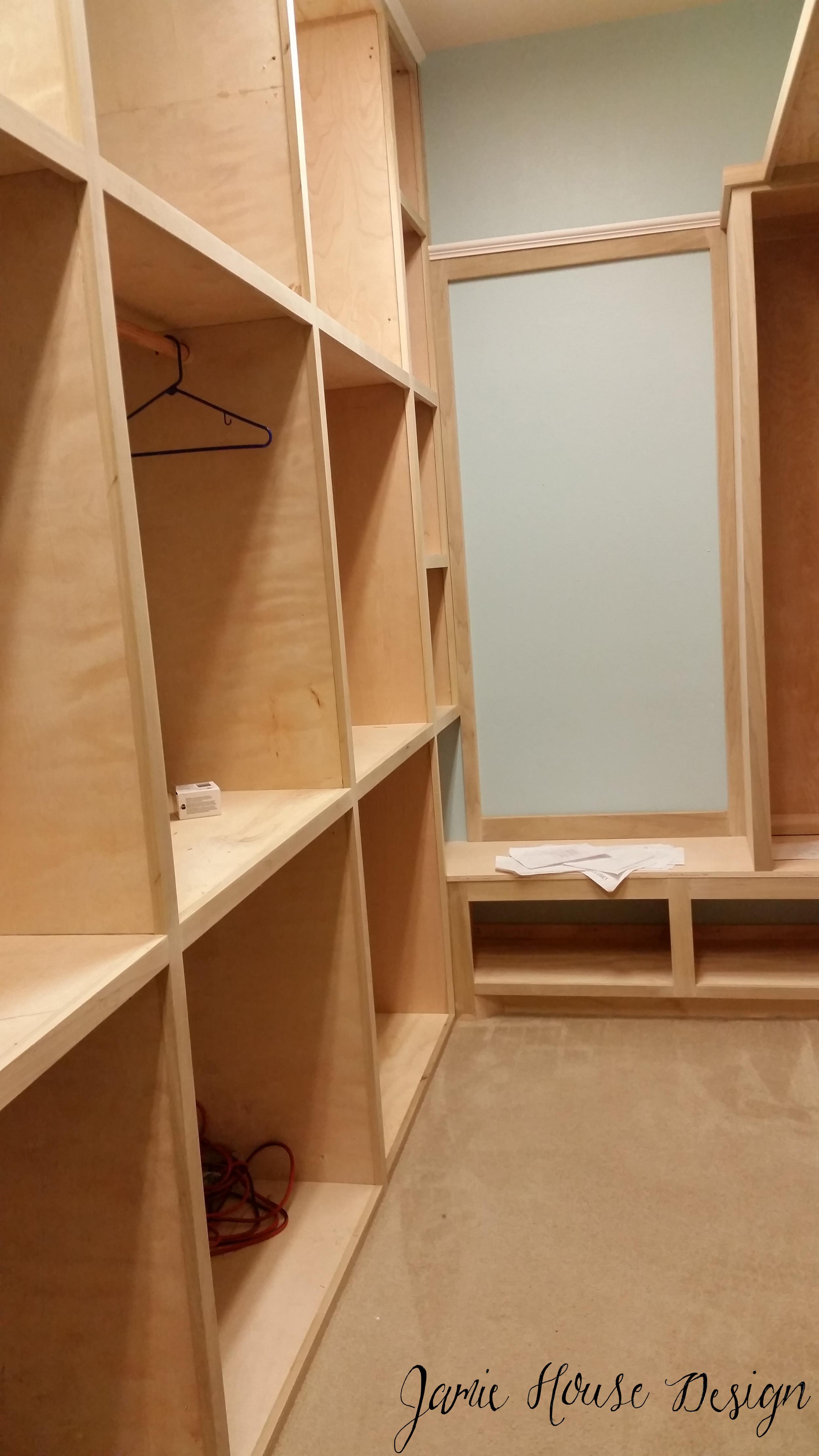 Closet in progress- Jamie House Design