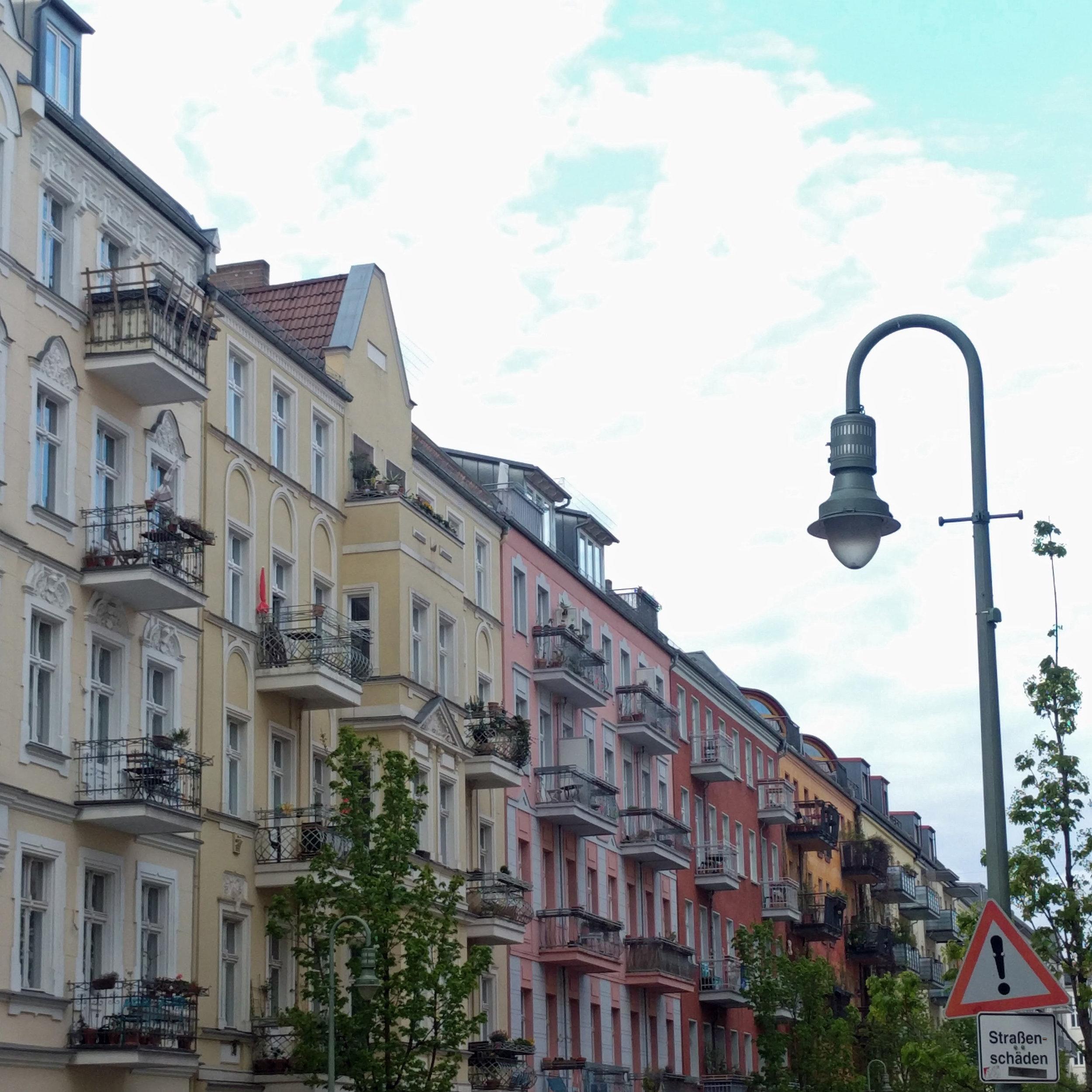 Prenzlauer Berg Berlin Germany colorful apartment buildings. Berlin interior designer Jamie House Design