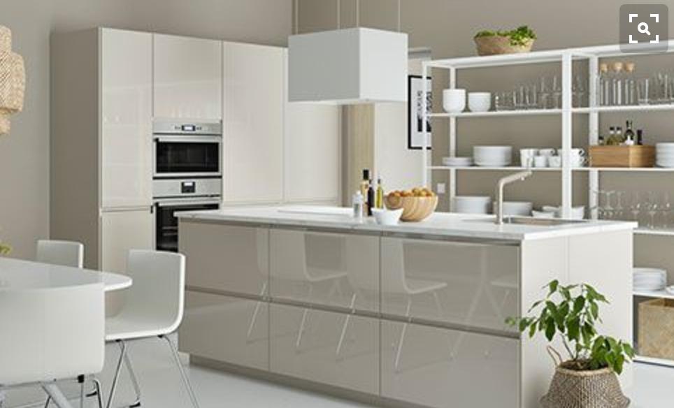 Ikea beige kitchen