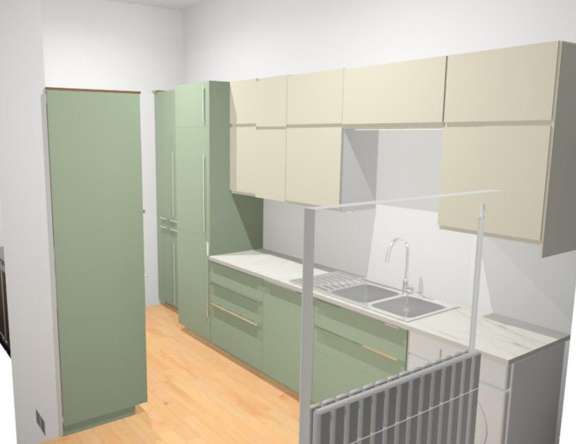Rendering of Ikea Berlin Kitchen by Jamie House Design. Berlin interior designer.