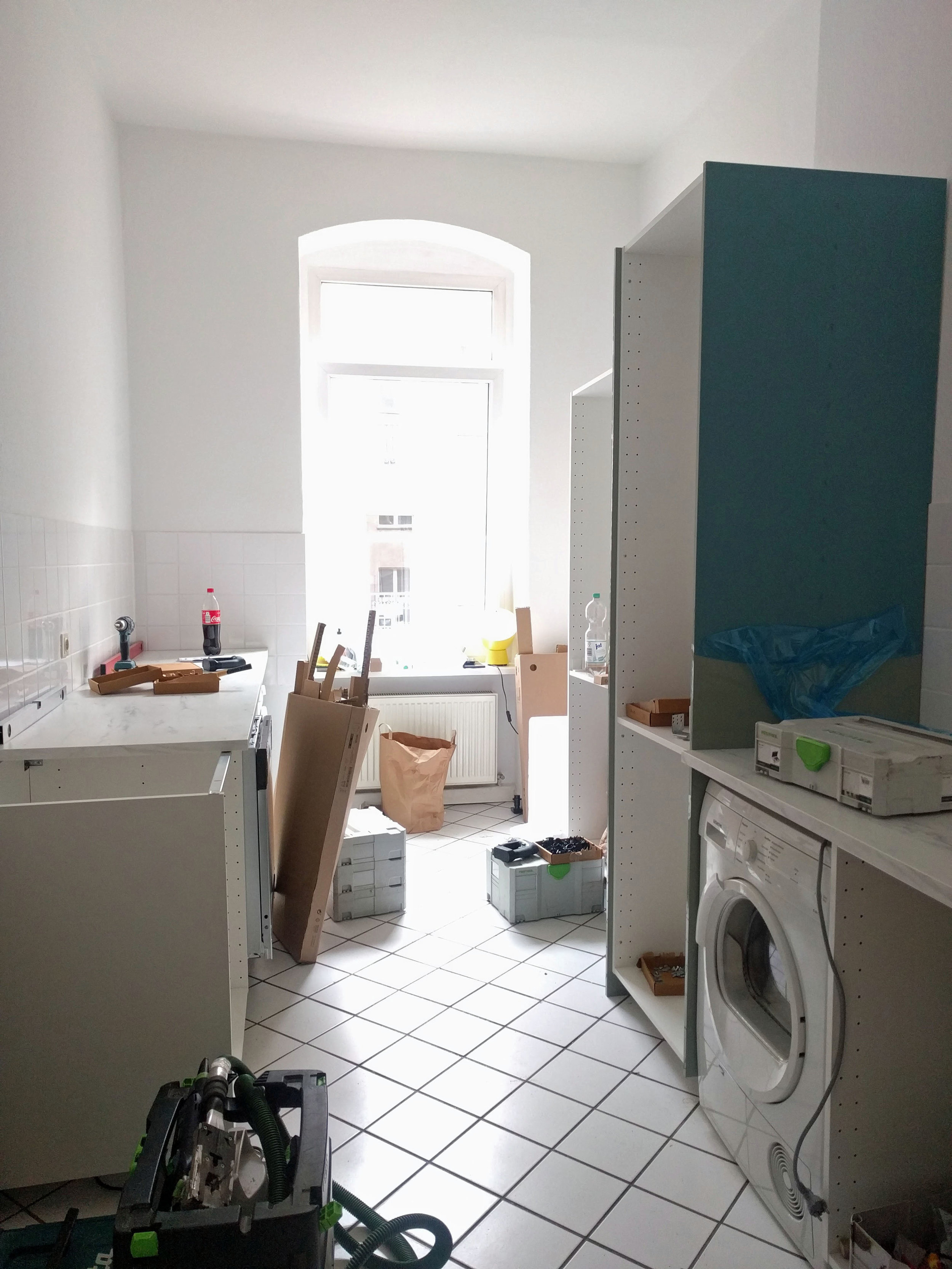 Berlin Ikea kitchen being installed. Prenzlauer Berg Interior Designer Jamie House Design