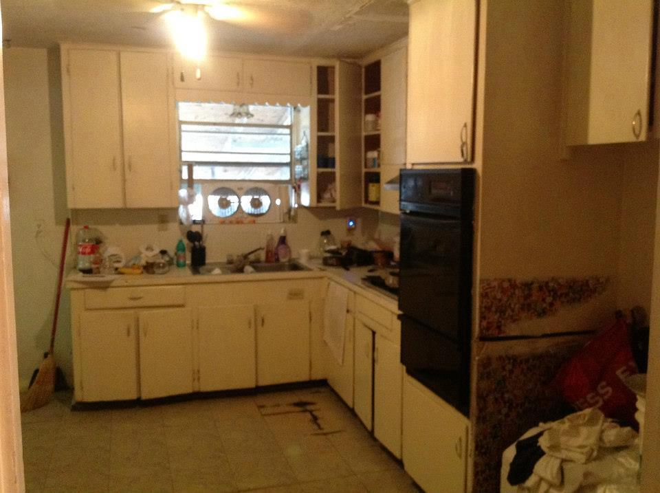 BEFORE Houston Heights kitchen remodel.