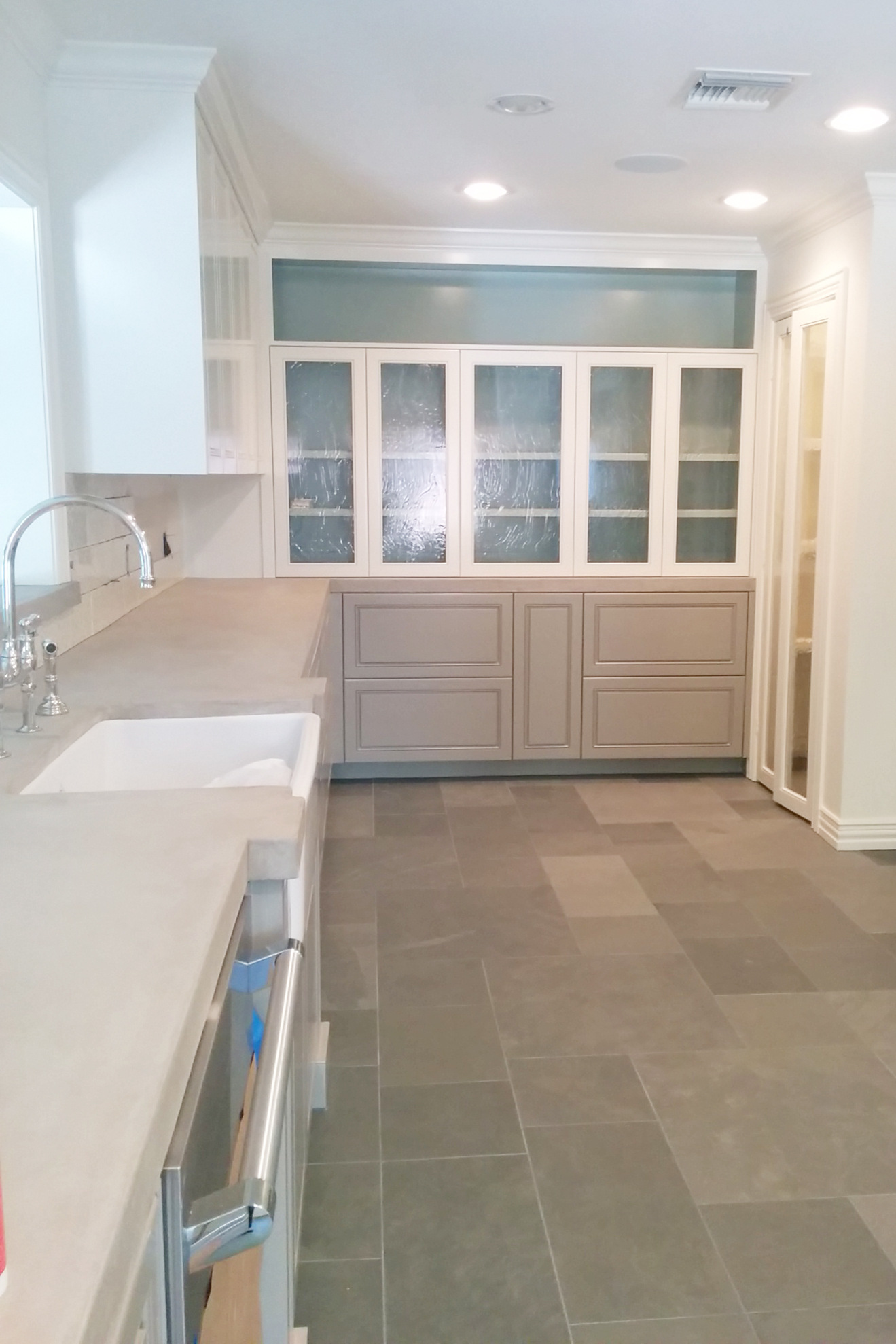 Traditional kitchen remodel in progress by Jamie House Design