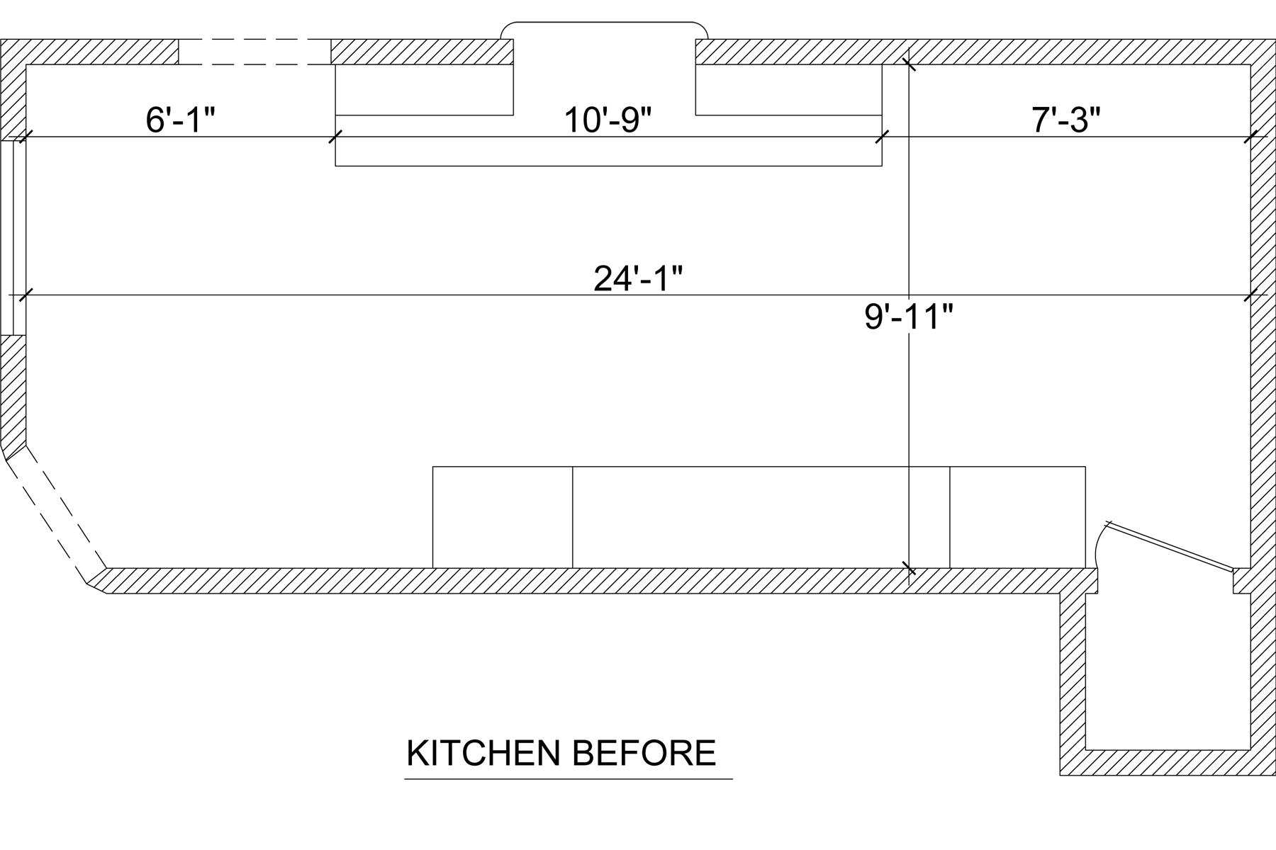 Floor-plan of the original kitchen | Jamie House Design