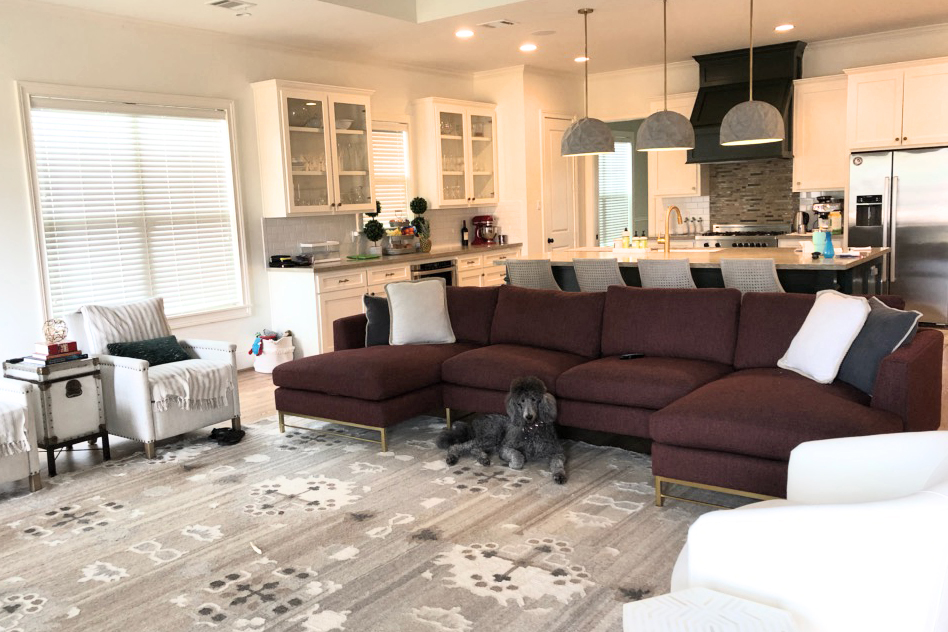 Designing from a distance by Jamie House Design living room progress shot