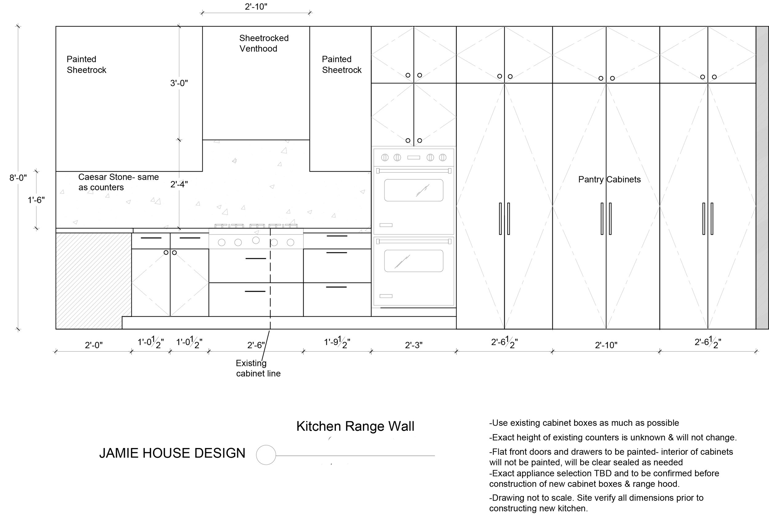 Designing From a Distance Kitchen Remodel Elevation by Jamie House Design
