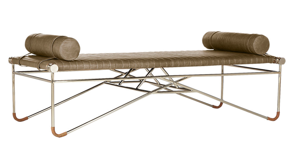 What I Would Buy CB2 Furniture Edition by Jamie House Design- La Strizza Saddle Leather Bench