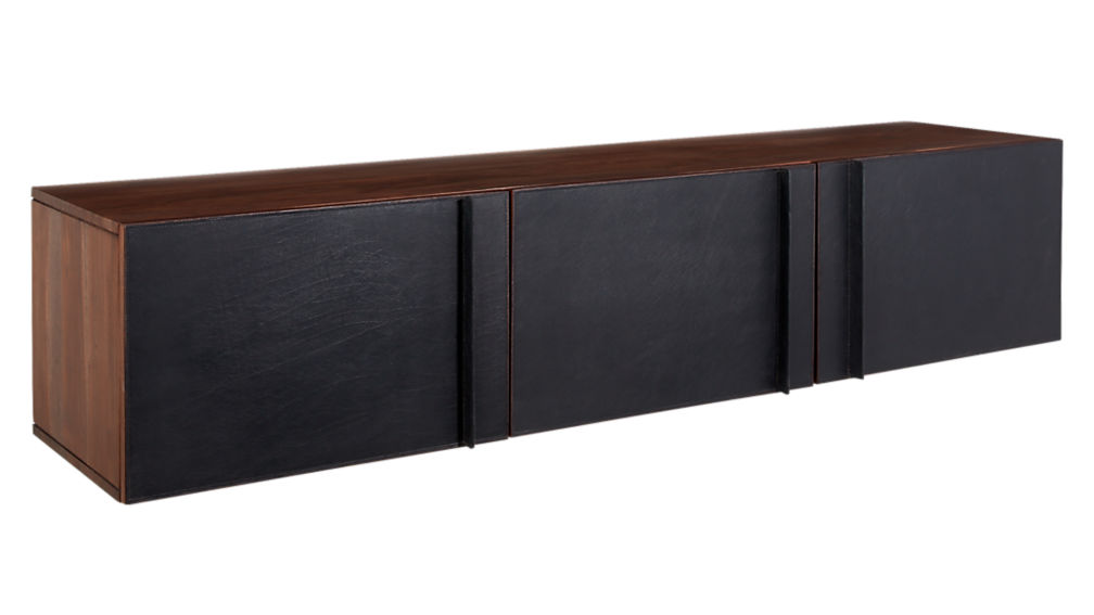 What I Would Buy CB2 Furniture Edition by Jamie House Design- Gather Leather wall mounted storage cabinet