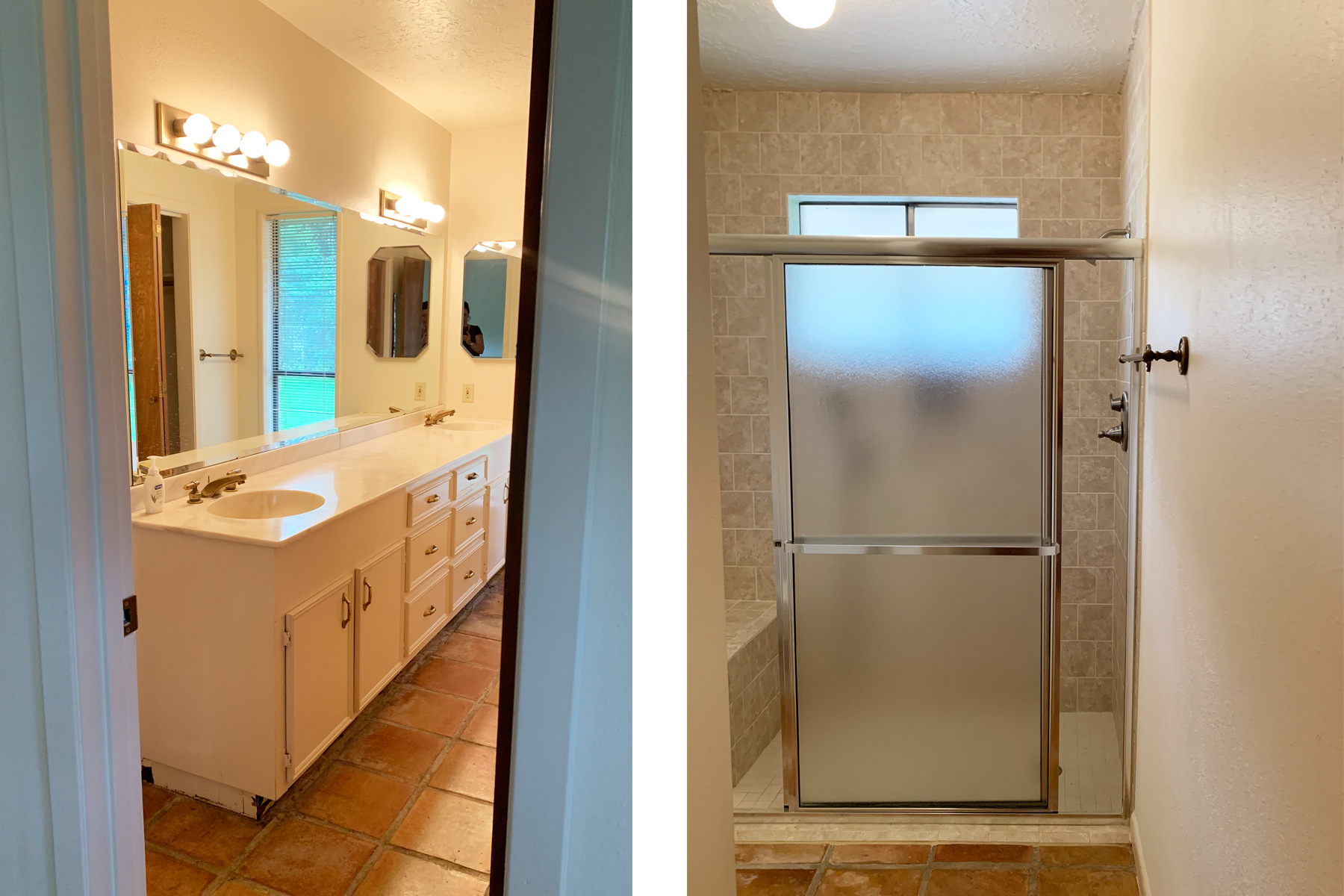 Introducing Client #Makingtheburbscool Master Bathroom Before | Jamie House Design
