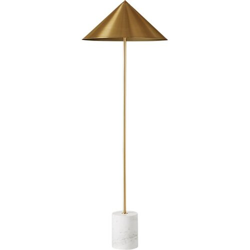 What I Would Buy- CB2 Accessories Edition by Jamie House Design- Umbrella Marble Base Brass Cone Floor Lamp